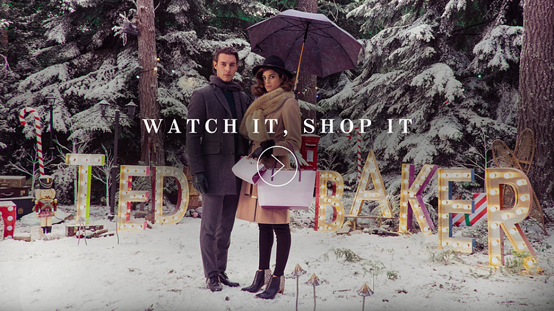 ted baker interactive video
