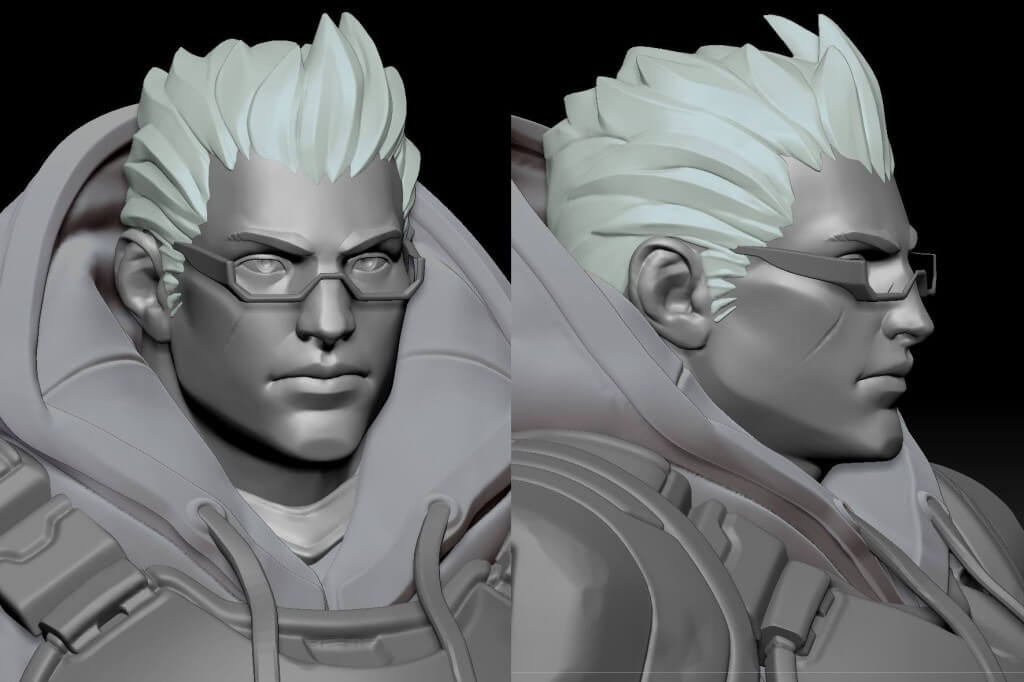 stylized animated character